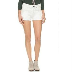 NWT Free People White Denim Jean Shorts Size 25